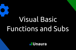 Visual Basic – Functions and Subs