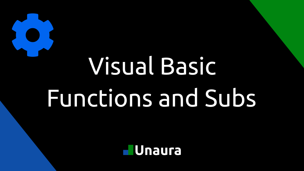 Visual Basic Functions and Subs
