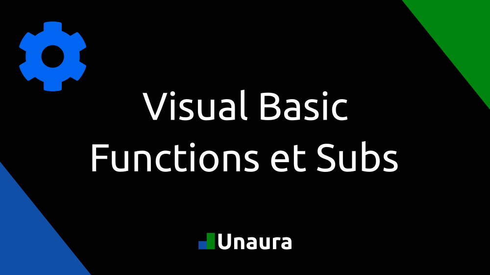 Visual Basic Functions et Subs