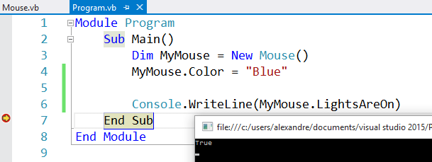 New Mouse example class